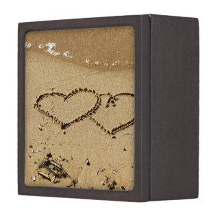 el personalizado del amor del corazón personaliza caja de joyas de calidad