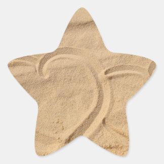 el personalizado del amor del corazón personaliza pegatina en forma de estrella