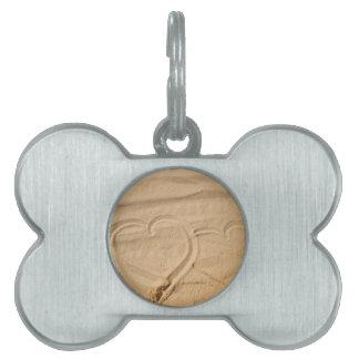 el personalizado del amor del corazón personaliza placa de mascota