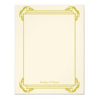 """El personalizado del boda del marco del moreno de invitación 4.25"""" x 5.5"""""""