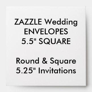 """El personalizado del boda envuelve 5,25"""" las sobre"""