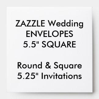 """El personalizado del boda envuelve 5,25"""" las sobres"""