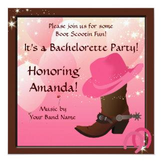 El personalizado del fiesta de Bachelorette de la Invitación 13,3 Cm X 13,3cm