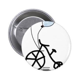 el personalizado del fiesta del globo de la bici pin redondo de 2 pulgadas