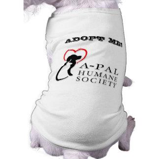 El personalizado del logotipo de A-PAL me adopta Playera Sin Mangas Para Perro
