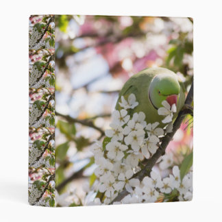 el personalizado del loro de los flores mini carpeta