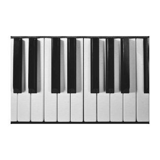 El personalizado del teclado de piano estiró la impresiones en lienzo estiradas