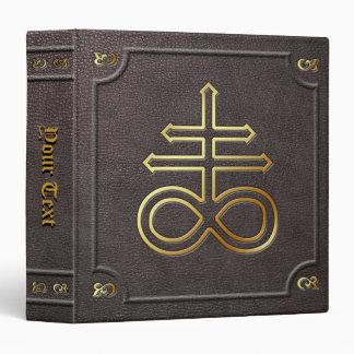 """El personalizado doró el libro cruzado del carpeta 1 1/2"""""""
