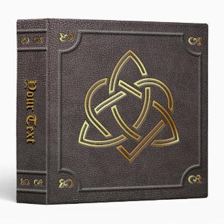 El personalizado doró el libro de Triquetra del Carpeta 3,8 Cm