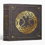 El personalizado doró el libro del árbol del mundo