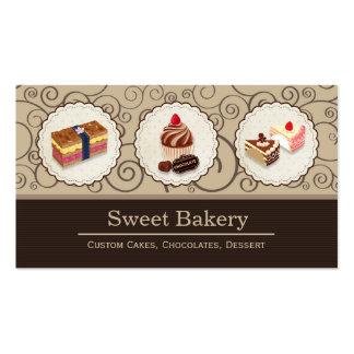 El personalizado dulce de la tienda de la plantilla de tarjeta de negocio