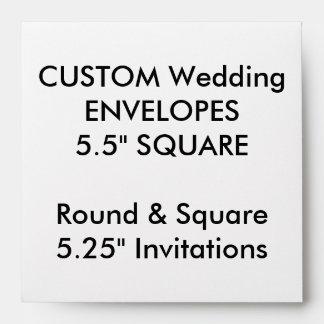 """El personalizado envuelve 5,25"""" las invitaciones sobres"""