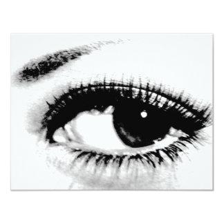 """El personalizado hermoso del ojo invita invitación 4.25"""" x 5.5"""""""