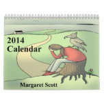 El personalizado imprimió el calendario 2014