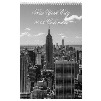 El personalizado imprimió el calendario 2015 de la