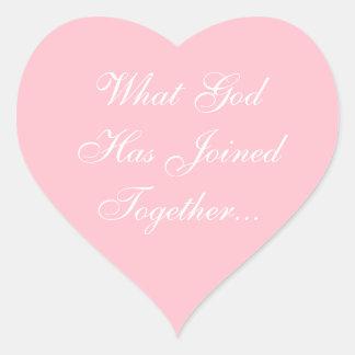 El personalizado invita a rosa del chicle pegatina en forma de corazón