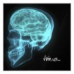 El PERSONALIZADO INVITA - al cráneo de neón azul d Anuncio