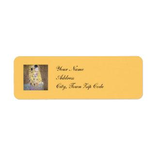 El personalizado L del aniversario de boda de oro Etiquetas De Remite