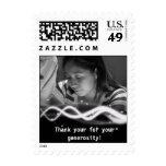 El personalizado le agradece foto de la postal sello