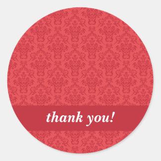 El personalizado le agradece los pegatinas de lujo pegatina redonda