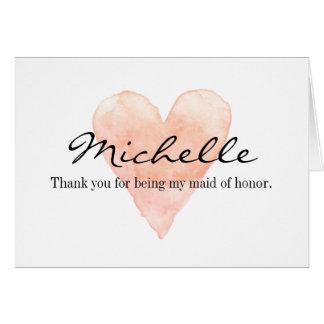 El personalizado le agradece por ser mi criada de tarjeta de felicitación