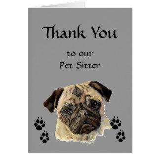 El personalizado le agradece saludo, mascota, cang tarjeta de felicitación