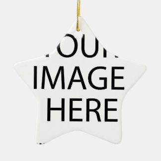el personalizado personaliza lo hace usted mismo adorno navideño de cerámica en forma de estrella
