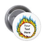 El personalizado personalizado flamea los botones pin