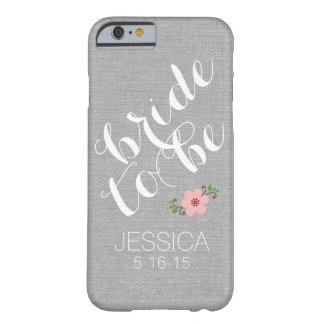 El personalizado personalizó a la novia para ser funda para iPhone 6 barely there