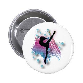 El personalizado personalizó la danza de Gymanst d Pin Redondo De 2 Pulgadas