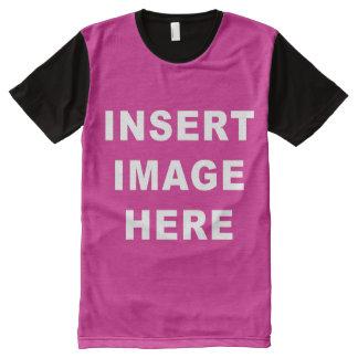 El personalizado por todo plantilla de la camisa