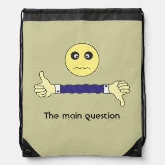El personalizado principal de la pregunta mochilas