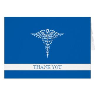 El personalizado profesional médico le agradece tarjeta pequeña