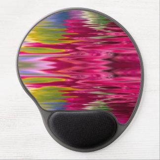 El personalizado rosado del agua personaliza alfombrilla de ratón con gel