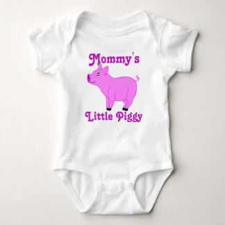 El personalizado rosado del cerdo embroma la body para bebé
