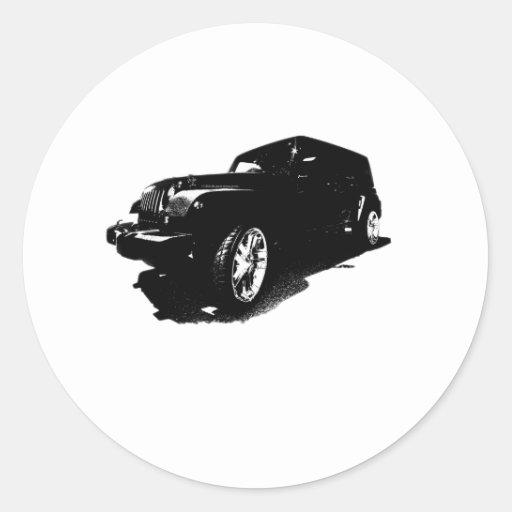 El personalizado rueda los regalos negros de las pegatina redonda