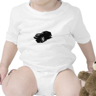 El personalizado rueda los regalos negros de las trajes de bebé