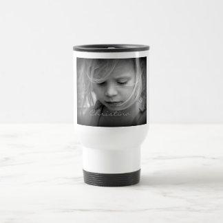 El personalizado su foto personalizó a los chicas  taza de viaje de acero inoxidable