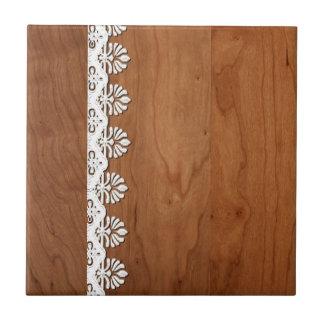 El personalizar añade la madera y el cordón del te azulejo cuadrado pequeño