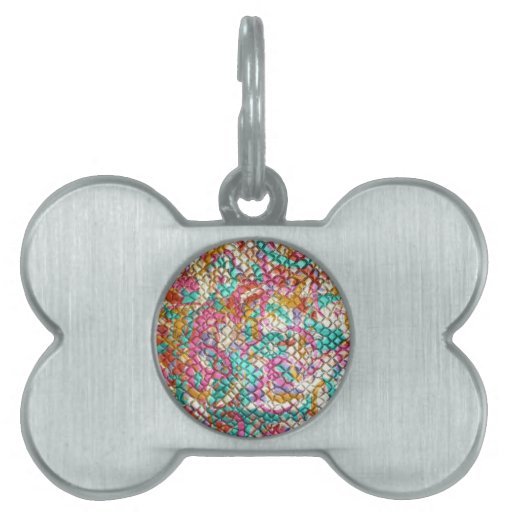 El personalizar colorido Jeweled joya de la impres Placas De Nombre De Mascota