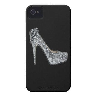 El personalizar de plata de los tacones altos iPhone 4 Case-Mate protector