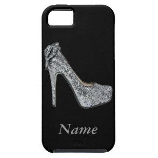 El personalizar de plata de los tacones altos iPhone 5 funda