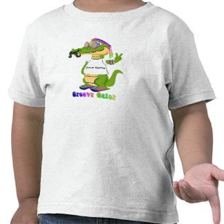 El personalizar maravilloso del cocodrilo y person camisetas