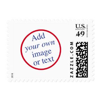 El personalizar, personaliza, diseña, crea sus los timbres postales