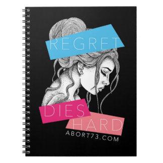 El pesar muere difícilmente el   Abort73.com Spiral Notebooks