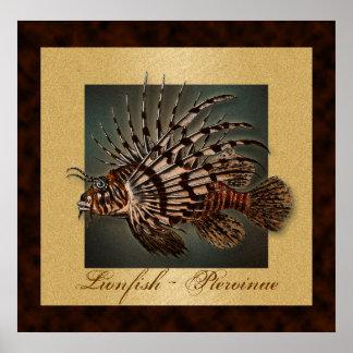 El pescado del filón del Lionfish imprime, los pos Posters
