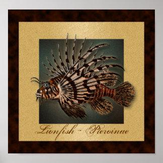El pescado del filón del Lionfish imprime, los pos Impresiones