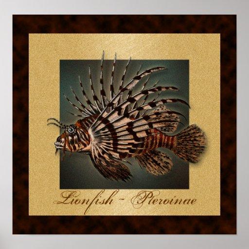 El pescado del filón del Lionfish imprime, los Póster