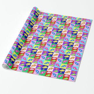 El pescado del payaso embroma el papel de embalaje papel de regalo