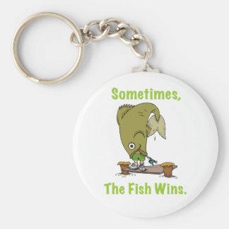 El pescado gana a veces llavero